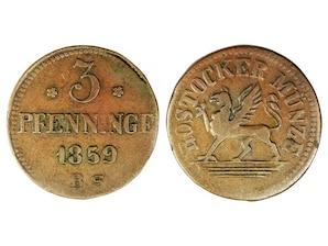 3 Pfennig Rostock 1815/64