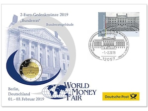 "Gedenkbrief World-Money-Fair 2019: ""Bundesrat"""
