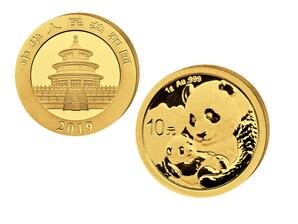 10 Yuan Goldmünze Panda 2019