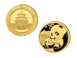 100 Yuan Goldmünze Panda 2019