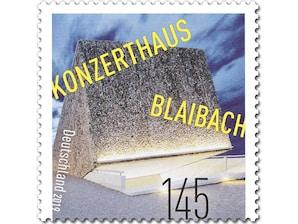 Konzerthaus Blaibach, Briefmarke zu 1,45 EUR, 10er-Bogen