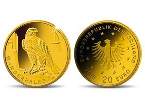 """20-Euro-Goldmünze """"Wanderfalke"""""""