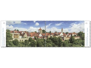 Rothenburg ob der Tauber, Briefmarke zu 0,45 EUR, 10er-Bogen