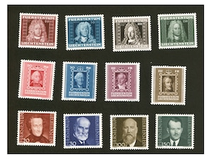 """Liechtenstein Steckkarte Serie """"Fürsten I. - III."""""""