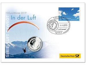 """Numisbrief """"In der Luft"""""""