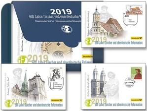 """Philatelistisches Brief-Set """"500 Jahre Zürcher und oberdeutsche Reformation"""""""