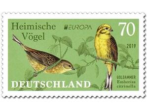 Goldammer, Briefmarke zu 0,70 EUR, 10er-Bogen