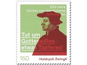 Huldrych Zwingli, Briefmarke zu 1,50 EUR, 10er-Bogen