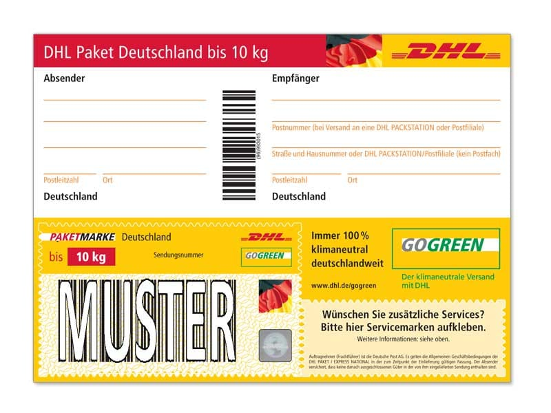 Deutsche Post Etiketten Drucken