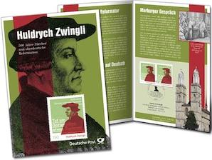 """Erinnerungsblatt """"Huldrych Zwingli"""" - 500 Jahre Zürcher und oberdeutsche Reformation"""""""