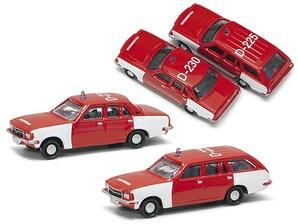 "2er-Set Opel Rekord D ""Feuerwehr"", 1:160"