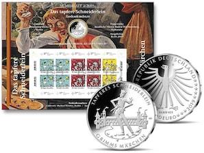 """Numisblatt: """"Grimms Märchen - Das tapfere Schneiderlein"""""""