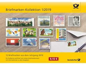 """Steckkarte: """"Briefmarken-Kollektion 1/2019"""""""