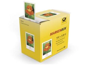 """Markenbox """"Kapuzinerkresse"""", Briefmarke zu 0,80 EUR, 100er-Box"""