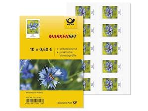 """Markenset """"Kornblume"""", 0,60 EUR, 10er-Set"""