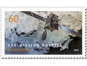 Mission Rosetta, Briefmarke zu 0,60 EUR, 10er-Bogen