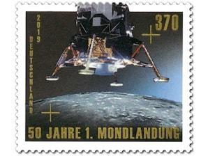 50 Jahre Erste Mondlandung, Briefmarke zu 3,70 EUR, 10er-Bogen