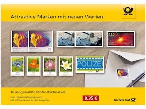 """Steckkarte """"Attraktive Marken mit neuen Werten"""", gemischt"""