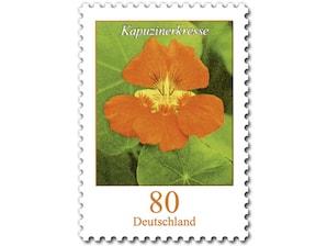 Kapuzinerkresse, Briefmarke zu 0,80 EUR, 10er-Bogen