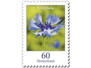 Kornblume, Briefmarke zu 0,60 EUR, 10er-Bogen