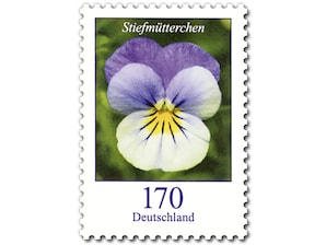 Stiefmütterchen, Briefmarke zu 1,70 EUR, 10er-Bogen