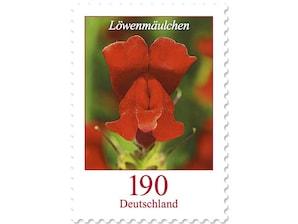 Löwenmäulchen, Briefmarke zu 1,90 EUR, 10er-Bogen