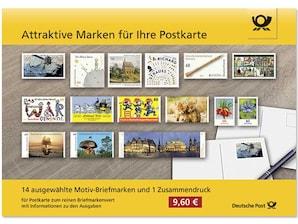"""Steckkarte """"Attraktive Marken für Ihre Postkarte"""""""