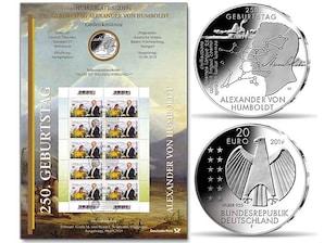 "Numisblatt: ""250. Geburtstag Alexander von Humboldt"""