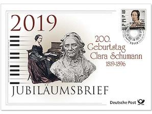 """Jubiläumsbrief """"200. Geburtstag Clara Schumann"""""""