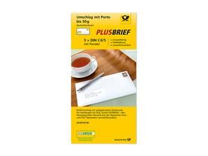 Plusbrief DIN C6/5 mit Fenster, 5er Set