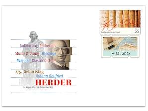 """Gedenkbriefumschlag """"Johann Gottfried Herder"""""""