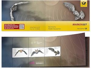 """Markenset """"Heimische Fledermäuse"""", 0,80+0,30 Euro, 0,95+0,40 Euro, 1,55+0,55 Euro, 3er-Set"""