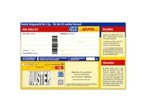 Bild DHL Paketmarke Europäische Union bis 5 kg - Versandschein