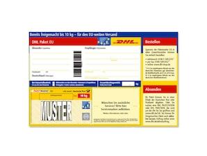 Bild DHL Paketmarke Europäische Union bis 10 kg - Versandschein