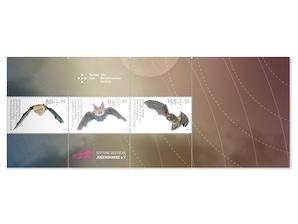 """Zusammendruck """"Heimische Fledermäuse"""", 0,80+0,30 EUR, 0,95+0,40 EUR, 1,55+0,55 EUR, 3er-Set"""