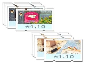Automatenmarken-10er-Set á 1,10 EUR, Motivgemischt, 2019