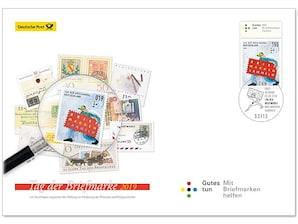 """Ersttagsbrief mit dem Plus: """"Tag der Briefmarke"""" 2019 - Briefmarkensammeln"""