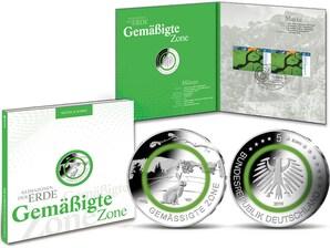 """Numisfolder """"Münze und Marke Gemäßigte Zone"""" Spiegelglanz"""