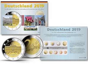 Set: Kursmünzen aus fünf Prägestätten 2019