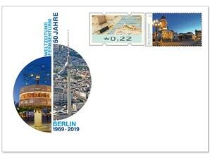 """Gedenkbriefumschlag """"50 Jahre Fernsehturm Berlin Ost"""""""