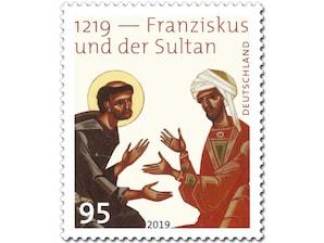 1219 - Franziskus und der Sultan, Briefmarke zu 0,95 EUR, 10er-Bogen