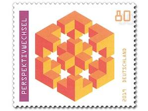 Perspektivwechsel, Briefmarke zu 0,80 EUR, 10er-Bogen