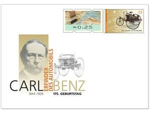 """Gedenkbriefumschlag """"175. Geburtstag Carl Benz"""""""
