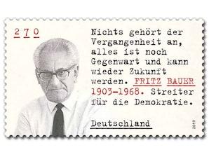 Fritz Bauer, Briefmarke zu 2,70 EUR, 10er-Bogen