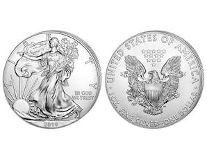 1 Unze Silber Silver Eagle USA 2019 (PP)