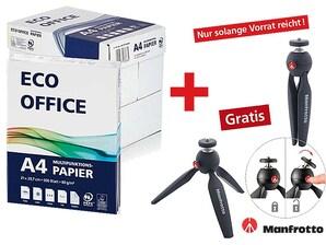 6 Kartons Eco Office Kopierpapier + Manfrotto Tischstativ für Kamera, gratis
