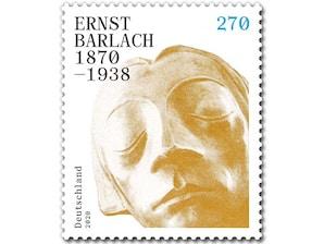 150. Geburtstag Ernst Barlach, Briefmarke zu 2,70 EUR, 10er-Bogen