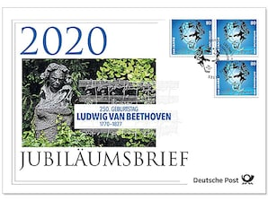 "Jubiläumsbrief ""250. Geburtstag Ludwig van Beethoven"""