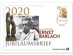 """Jubiläumsbrief """"150. Geburtstag Ernst Barlach"""""""