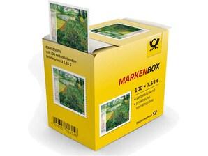 "Markenbox ""Vincent van Gogh - Mohnfeld"", Briefmarke zu 1,55 EUR, 100er-Box"